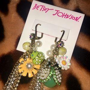 Betsey Johnson Flower Child Earrings